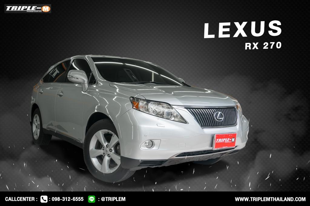 LEXUS RX270 โฉมปี (09-12) 2.7 AT ปี 2011 ราคา 929,000.- (#C2021042307)