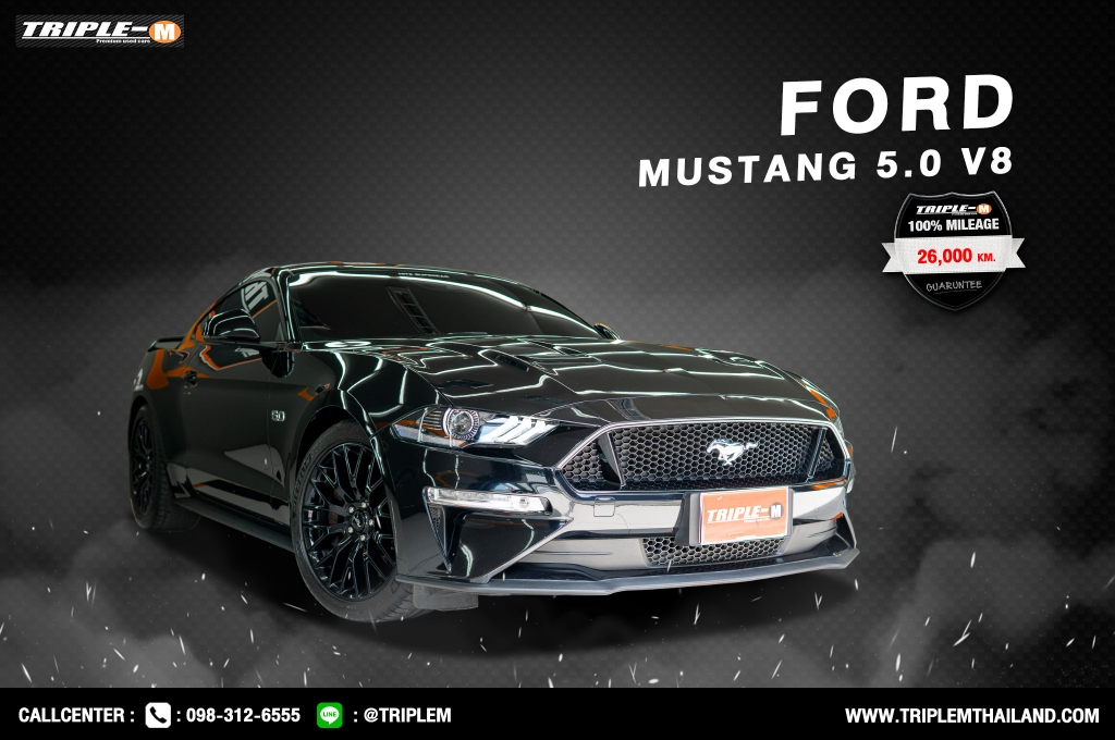 FORD MUSTANG โฉมปี (15-ปัจจุบัน) 5.0 V8 NA GT Coupe AT ปี 2018 ราคา 3,899,000.- (#C2021061403)